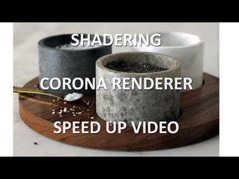 3Ds MAX. Speed UP. Shadering with CORONA RENDERER. 3Ds MAX