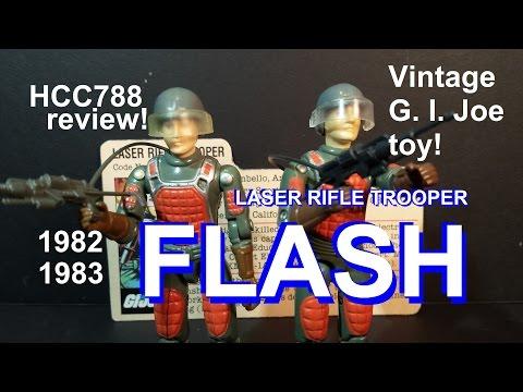 HCC788 review: 1982 FLASH - Laser Rifle Trooper - vintage G. I. Joe toy review! HD S02E44