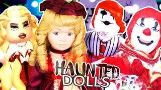 DRESSING UP like my HAUNTED DOLLS! Roblox Royale High
