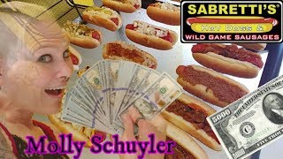 Molly Schuyler takes on Sabretti's  $5000.00 Hot Dog Challenge