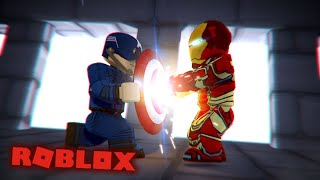 IRON MAN VS CAPTAIN AMERICA! Jeu de Avengers End (fr) EP 2 (Roblox Avengers Roleplay)