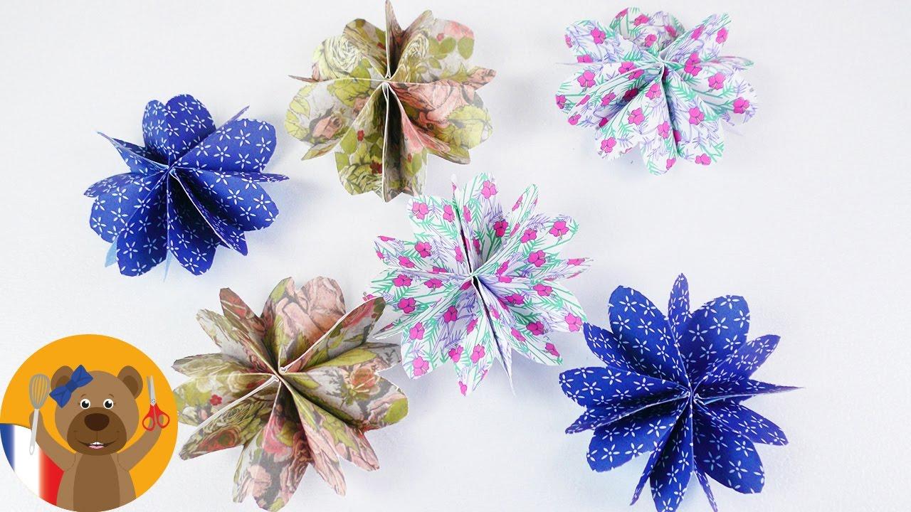 jolies fleurs en papier à faire soi-même | idée diy avec du papier
