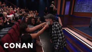 David Cross Lets The Audience Feel His Beard - CONAN on TBS