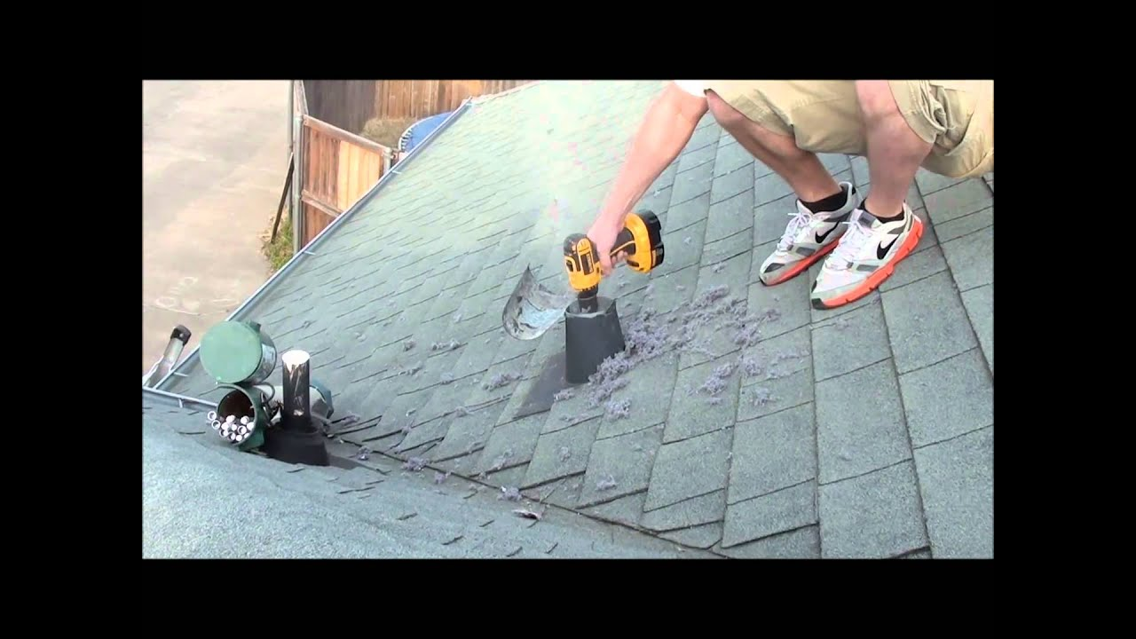 Dryer Vent CleaningFrom the Roof wwwHomeSafeVentCleaningcom  YouTube