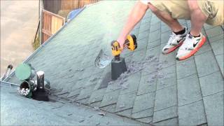 Dryer Vent Cleaning...From the Roof! (www.HomeSafeVentCleaning.com)