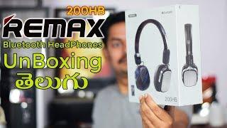 Remax 200HB BlueTooth HeadPhones Unboxing in Telugu Tech-Logic