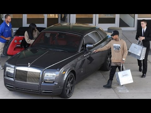 Tyga And Kylie Jenner Enjoying Shopping Spree And A New Rolls Royce