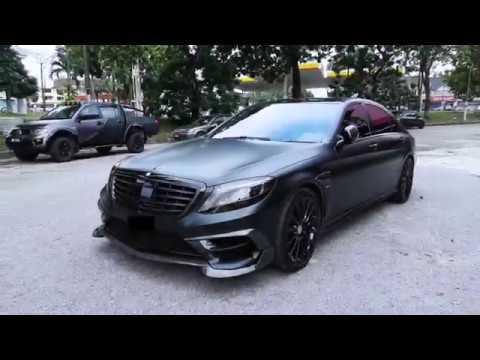 Mercedes S Cl Wred With Matte Black