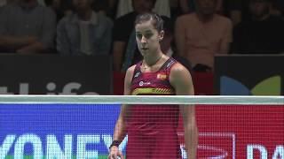 Daihatsu Yonex Japan Open 2017  Badminton F M4-ws  He Bingjiao Vs Carolina Marin