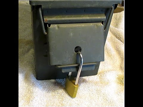 How to lock an ammo can.the easy way