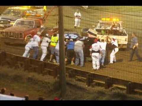 Bob Sarkisian flip at Bridgeport Speedway