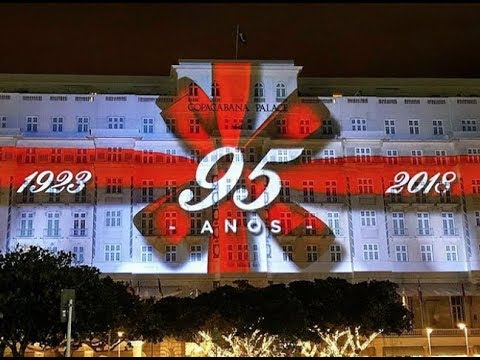 3D projection mappin -  Copacabana Palace, Rio de janeiro