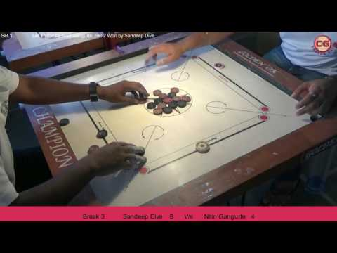 LM Set 3 Sandeep Dive vs Nitin Gangurte Mumbai Suburban District Carrom Organised Mayor Cup