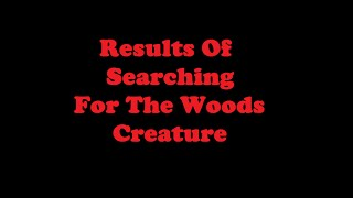 GTA San Andreas   Results Of Searching For The Woods Creature