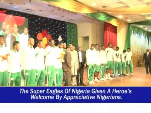 PRESIDENT GOODLUCK JONATHAN HOST VICTORIOUS SUPER EAGLES