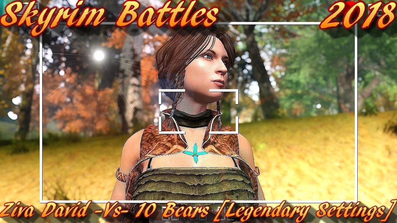 Skyrim Battles - Ziva David NCIS Stand Alone Follower vs 10 Bears [Skyrim  Nexus Mod]