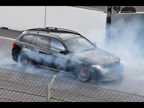 900HP BMW 335i - MASSIVE BURNOUT - Single Turbo N54