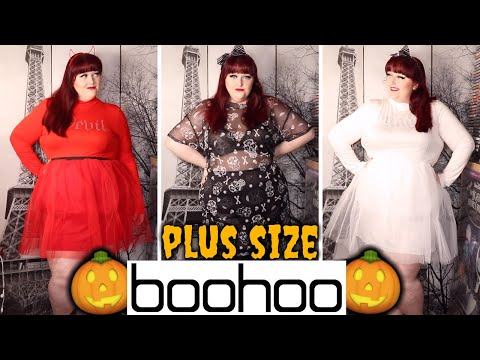 🎃 DANCE WITH THE DEVIL! 🎃 Boohoo Plus Size Halloween Clothing Haul! (Boohoo Haul #14) 🎃