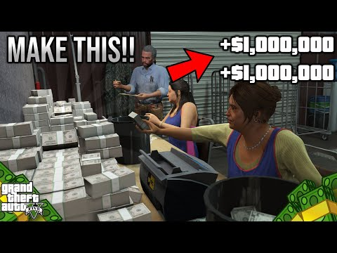Make $1,000,000 Dollars!!! In Gta5 Online Doing THIS!!!!