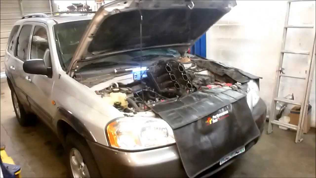2004 Mazda Tribute Ford Escape 30 V6 Spark Plug Replacement Youtube Honda Engine 1 3 L Diagram