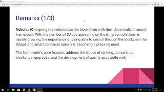 Nebulas NAS Coin Blockchain Google Krypto 2018