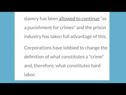 Prison Labor is the new American slavery; here