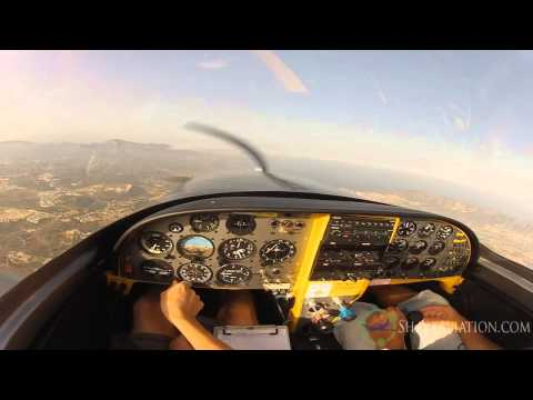 Lancair 360 Flight - Intercepting a Boeing Stearman [Read Description]