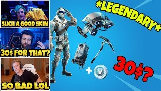 Streamers React To The *NEW* DEEP FREEZE BUNDLE *LEGENDARY* IN FORTNITE