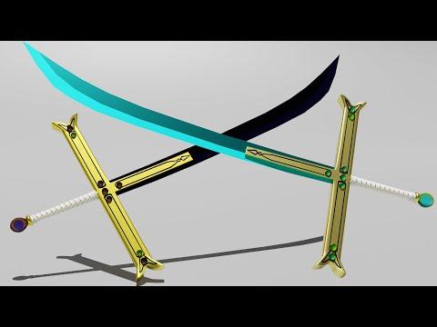 Blender Modeling Mihawk Sword Tutorial