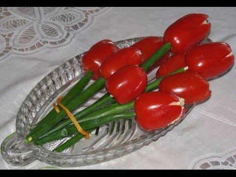Салат Тюльпан. Простой салат, вкусный салат.