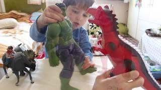 Çizgi Film Kahramanları Oyuncak Hulk vs T Rex Dinazor - Toys Review for Kids