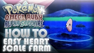 Pokemon ORAS: Heart Scale Farming Guide! Good & Super Rod, TM46 Thief Location - Mootypwns