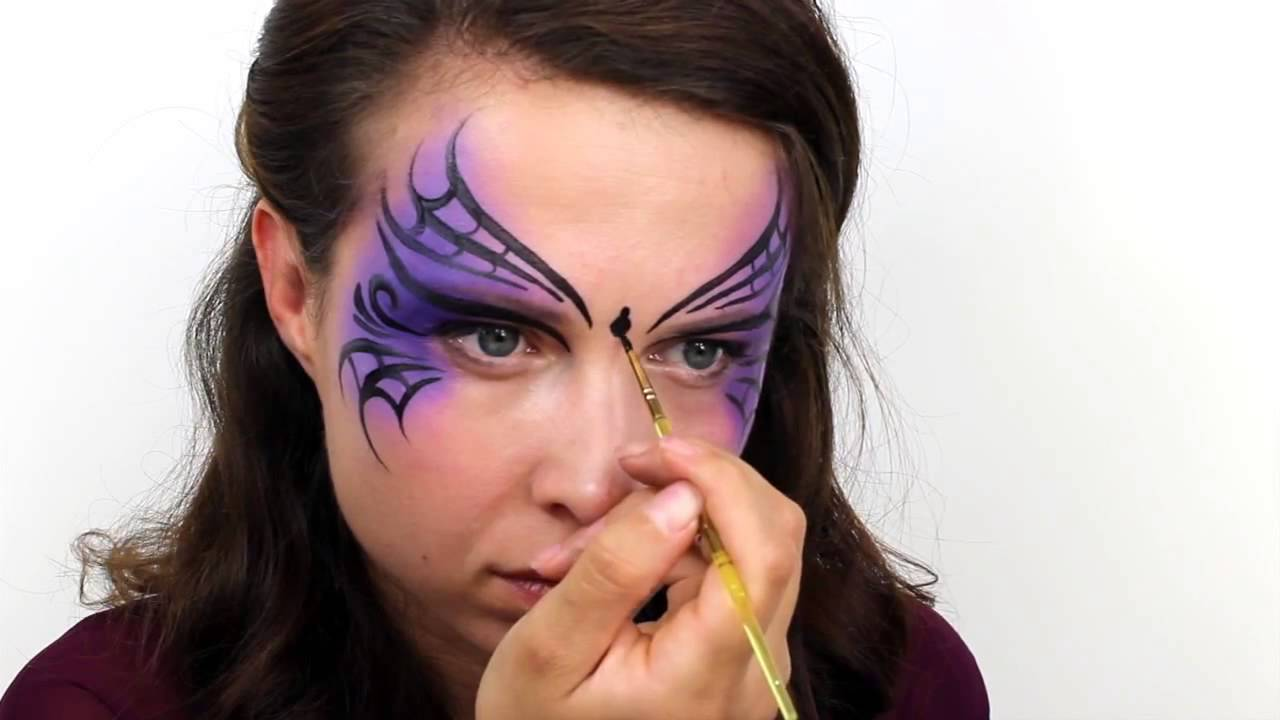 Uncategorized Painted Witch Faces halloween basic witch face paint tutorial snazaroo youtube snazaroo