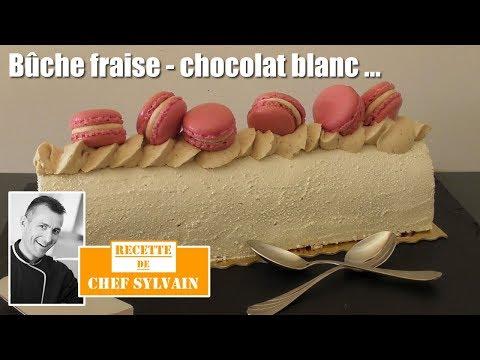 bûche-fraise-et-chocolat-blanc---bûche-de-noël-par-chef-sylvain