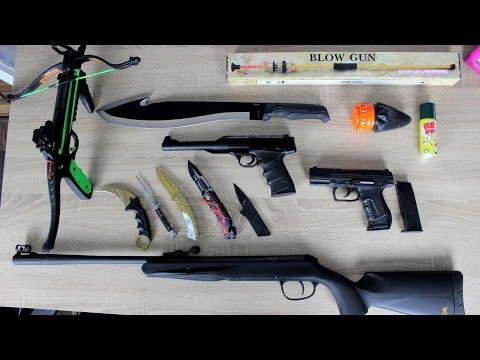 Meine kleine Waffensammlung - Luftgewehr, Messer, Schleuder, Armbrust und mehr...
