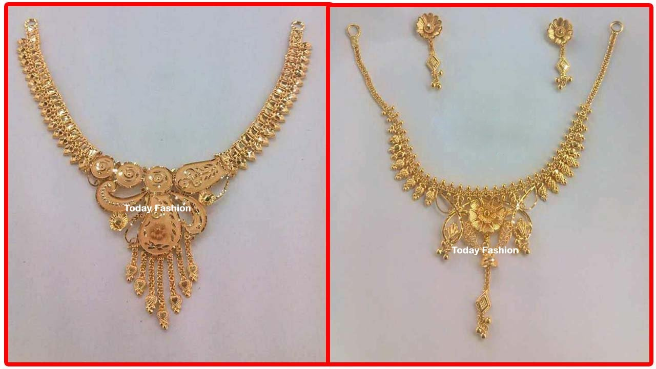 Trending Gold Necklace designs | wedding and daily wear necklace designs collection