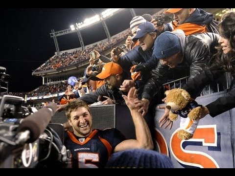 Denver Broncos win playoff Wild Card game against the Steelers @ Mile High Jan. 8th 2012