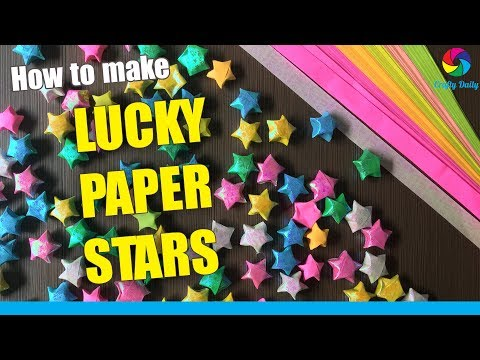 How to make lucky paper stars | origami stars tutorial
