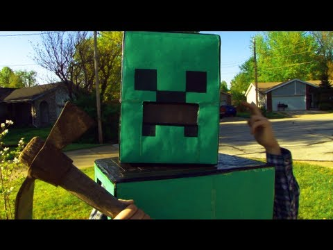 Minecraft Creeper In Real Life Youtube