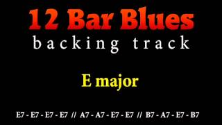 Slow blues backing track in E major for guitar solo (12 bar blues)