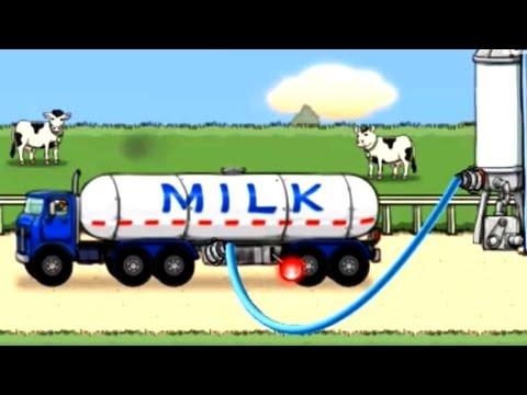 Milk Tanker Truck |การ์ตูน เกมส์รถบรรทุกนม รถนม ภารกิจรถบรรทุก เกมส์รถ