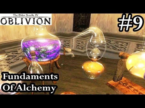 Elder Scrolls IV Oblivion Walkthrough Let's Play Part 9 - Fundaments Of Alchemy