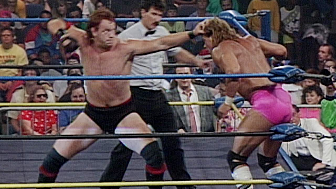 """Mean"" Mark Callous challenges U.S. Champion Lex Luger: WCW Great American Bash 1990"