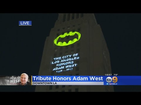 LA City Hall Lights Up The Night Sky To Honor 'Batman' Adam West