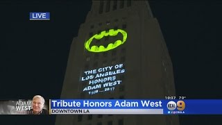 LA City Hall Lights Up The Night Sky To Honor 'Batman' Adam West