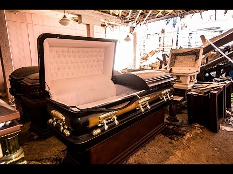 ABANDONED FUNERAL HOME - CASKETS AND MORGUE