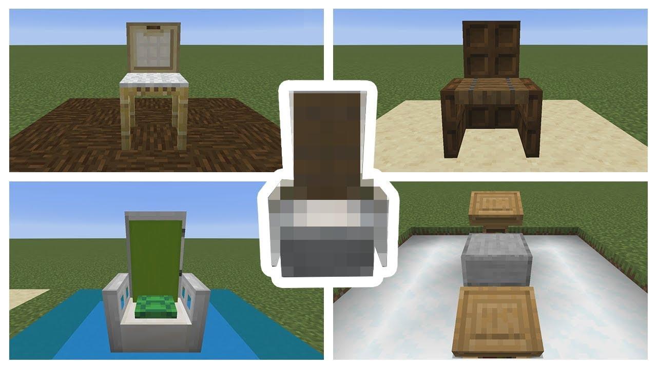 Top 5 Minecraft Chair Designs   Minecraft 1 14