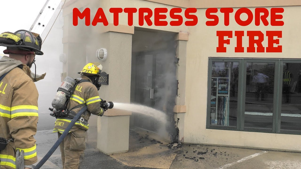 1st alarm arrival to the mattress store whitehall pa youtube