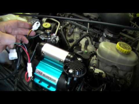 [DIAGRAM_1CA]  ARB Air Compressor Installed in the Jeep TJ - YouTube | Arb Cksa12 Compressor Wiring Diagram |  | YouTube