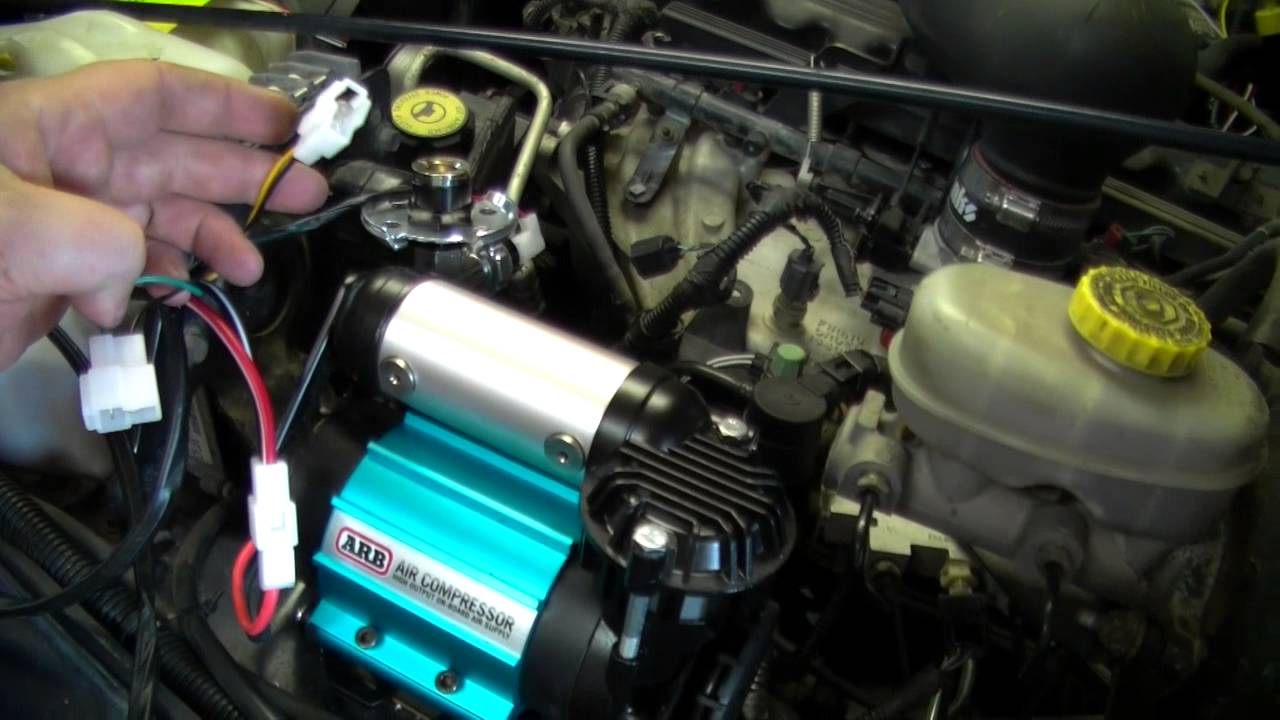 1998 Jeep Wrangler Tj Wiring Diagram Bee R Rev Limiter Type H Arb Air Compressor Installed In The - Youtube